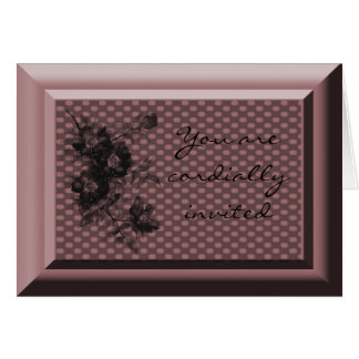 You are cordially invited greeting card