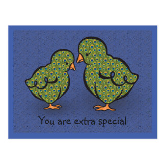 You Are Extra Special! Chick or Peacock? Humorous Postcard