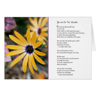 You are far too valuable... greeting card