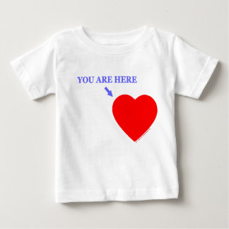 """YOU ARE HERE"" Baby For Military Infant Baby T-Shirt"