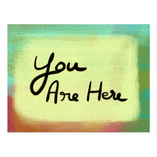 You Are Here - Light Yellow Postcard