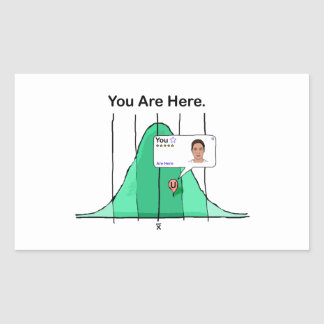 You Are Here Rectangular Sticker