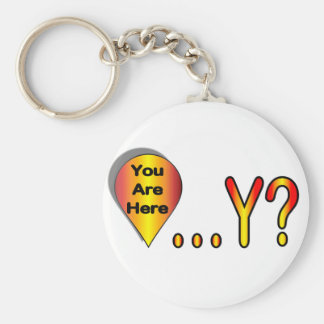 You Are Here.... Why? Basic Round Button Key Ring