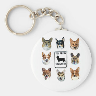 You Are In  Corgi Country Key Ring