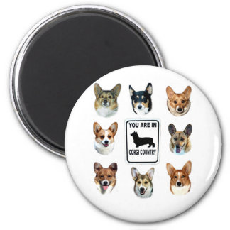 You Are In  Corgi Country Magnet