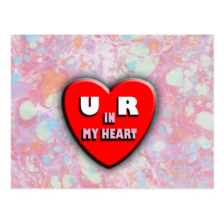 You Are In My Heart Postcard