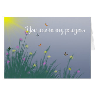 You are in my prayers greeting card