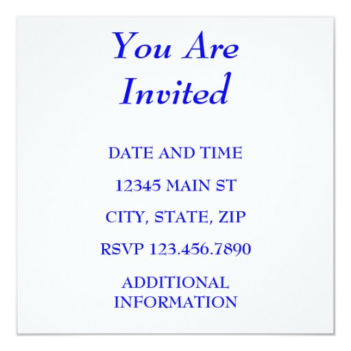 YOU ARE INVITED 13 CM X 13 CM SQUARE INVITATION CARD