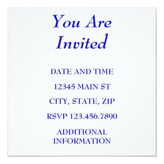 YOU ARE INVITED 13 CM X 13 CM SQUARE INVITATION CARD