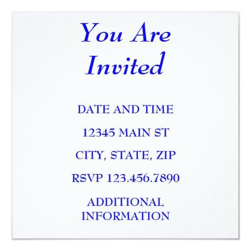 """YOU ARE INVITED 5.25"""" SQUARE INVITATION CARD"""