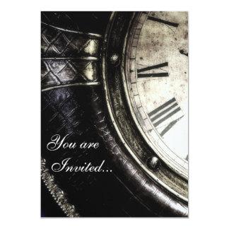 You are Invited...Clock Face 13 Cm X 18 Cm Invitation Card