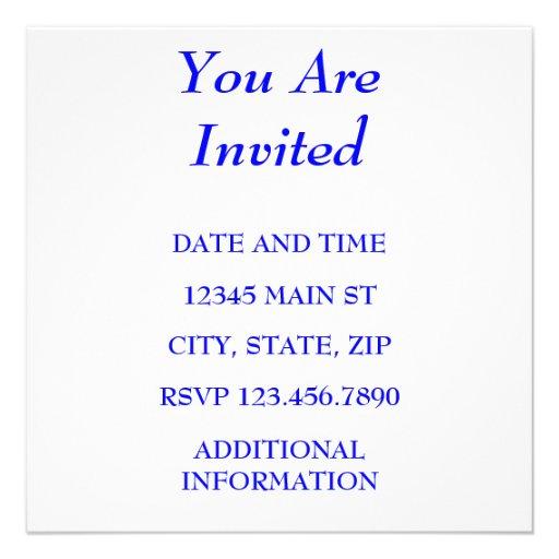YOU ARE INVITED PERSONALIZED INVITES