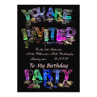 You Are Invited to a Party 13 Cm X 18 Cm Invitation Card