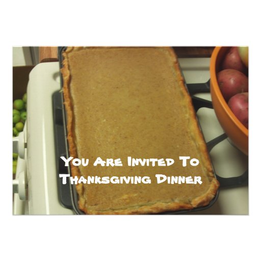 You Are Invited To Thanksgiving Dinner Invitations 5 X 7