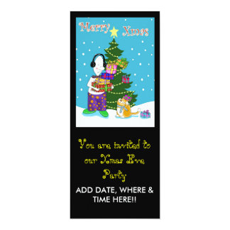 You are invited xmas eve party 10 cm x 24 cm invitation card