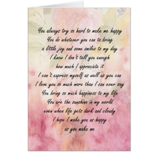 You Are Loved and Appreciated Card