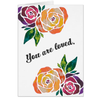 You are loved Bible verse Greeting Card