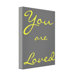You Are Loved kid's bedroom wall hanging Canvas Print