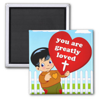 You are Loved Square Magnet