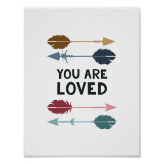 You are Loved - Multi Colored - Poster Print