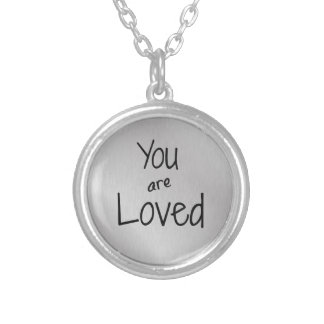 You are loved personalized necklace
