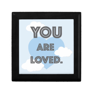 You are Loved/ Personalized Name Pillow Small Square Gift Box