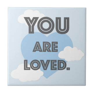 You are Loved/ Personalized Name Pillow Small Square Tile