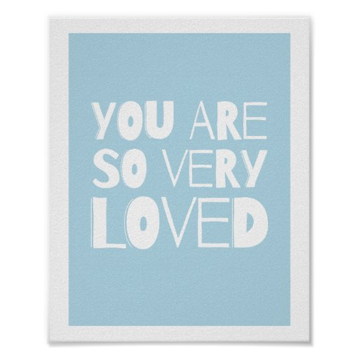 You Are Loved Sweet Modern Wall Decor | Blue