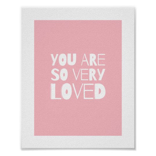 You Are Loved Sweet Modern Wall Decor  
