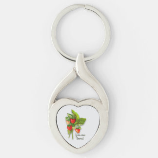 """""""You are Loved"""" with Strawberries Key Ring"""