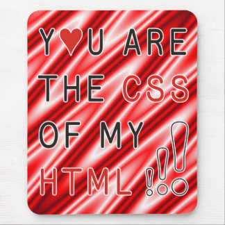 You Are My CSS - red white waves Mouse Pad