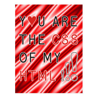You Are My CSS - red white waves Postcard