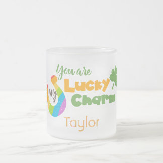 You are my lucky St Patricks Day Frosted Glass Coffee Mug