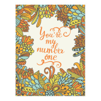 You Are My Number One Postcard