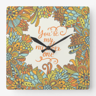 You Are My Number One Square Wall Clock