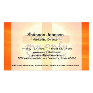 You are My Only Sunshine with Cross Pack Of Standard Business Cards