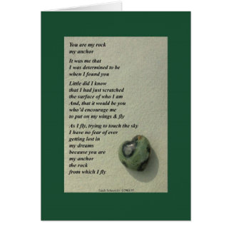 You Are My Rock... Greeting Card