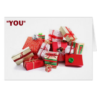 """YOU ARE """"MY SPECIAL CHRISTMAS GIFT"""" GREETING CARD"""