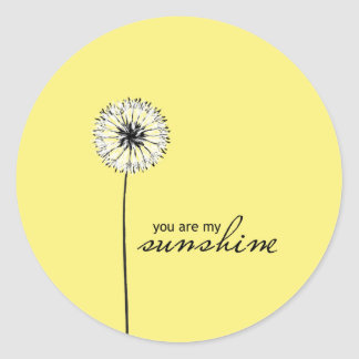 You Are My Sunshine 01 Classic Round Sticker