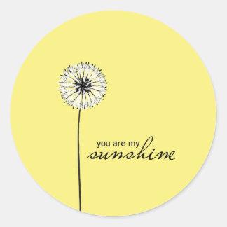 You Are My Sunshine 01 Round Sticker