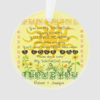 You are My Sunshine add a Name Ornament