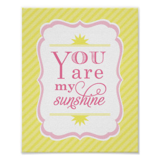You Are My Sunshine Art Print Baby Nursery Decor