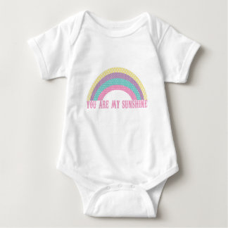 You Are My Sunshine Baby Romper, Rainbow Baby Bodysuit