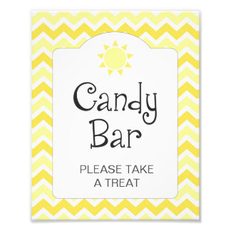 You are my sunshine baby shower candy bar sign