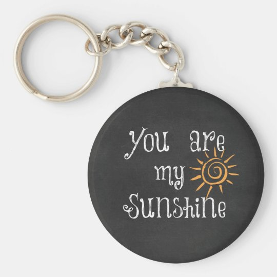 You are My Sunshine Basic Round Button Key