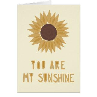 You Are My Sunshine - BLANK inside Card