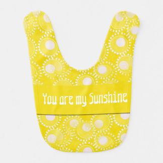 You are my Sunshine Bright Yellow Baby Bib