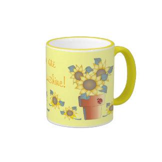 YOU ARE MY SUNSHINE by SHARON SHARPE Ringer Mug