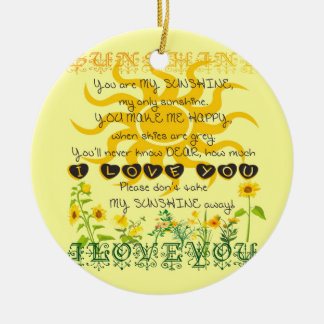 You are my sunshine... christmas ornament