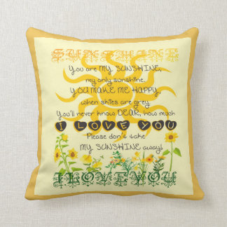 You are my sunshine. cushion